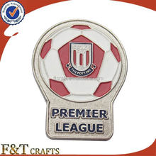 Metal football pin badges soft enamel paint