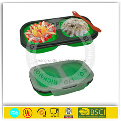 Hot selling silicone collapsible food storage container lunch box with low price