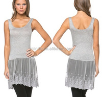casual Gray lace cami extender under tops and dresses basic extender manufacture china wholesale