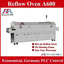Factory price Economical Hot air LED wave Reflow Oven 6 zones / 8 zones for LED mount soldering