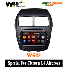 Digital Touch Screen Car DVD With SWC WIFI 3G Bluetooth GPS Navigation Mirror-link Free Map For C4