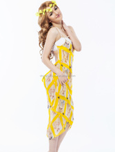 Bright yellow top selling summer beach dresses