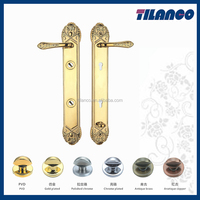 European Profile Italy Quality Lock Handle With Big Panel For Cottage Doors