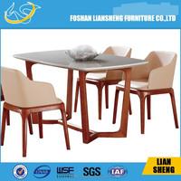 2015 Foshan Liansheng Modern furniture, MDF dining table design,cheap dining table set