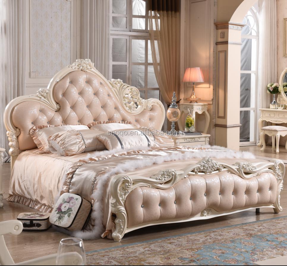 유럽 킹 사이즈 침대 럭셔리 가죽 침대 2016 뜨거운 가구-침대 ...