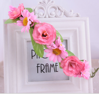 2015 Europe daisy flower crown seaside tourist attractions flowers retro hair band headband female Bridal wedding accessories