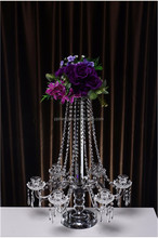 Wonderful Tall Decor Crystal candle holder wedding decoration and wedding centerpieces