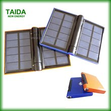 Emergency Foldable USB Solar Mobile Charger With LED Flashlight 5000mah Polymer Lithium Battery