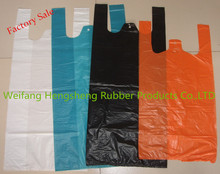 factory direct supply plastic t-shirt shopping bag