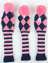 Customize Golf Knit Club Head Covers, 1,3,5 a set