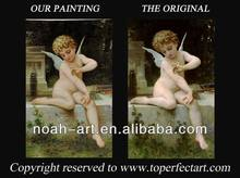 Bouguereau museum quality angel baby nude oil painting canvas