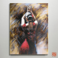 Wholesale Handpainted canvas painting lady painting dancing girl oil painting