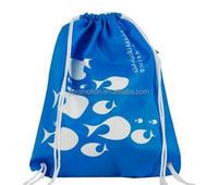 Small 210d nylon mesh draw string backpack sport bags