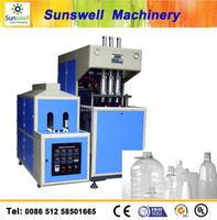 2cavity PET semi automatic mineral water bottle making machine price