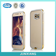 3 in 1 bright electroplating clear back case for Samsung Galaxy S6