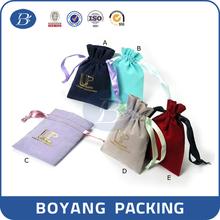 China factory cheap promotional drawstring silk bag