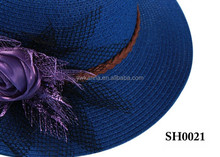 Wholesale Silk Flower Girl Summer Sun Straw Beach Hats