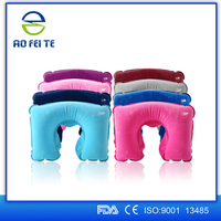 wholesale travelling products medical pvc inflatable u shape neck pillow