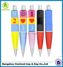 Custom feature ballpoint pen, promotion toy pen ,magic pen with changing