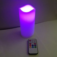 best selling china factory electric candle wedding decorations and gift plastic multi-colors shadow and light candles