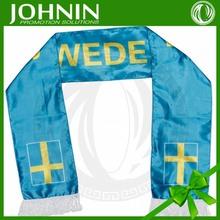 china manufacturer custom promotion sport sweden fan scarf