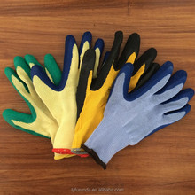 10 gauge 5 threads polycotton gloves with latex coated on palm