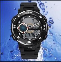 moq 30pcs Freeshipping high quality 3ATM waterproof 2016 new fashion watch, PU plastic band, analog digital movement,