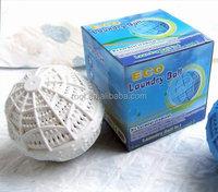White eco magic green laundry washing ball