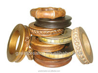 Great Creator Decorative Resin Curtain Rings w/Eyelets and Clips for Different Sizes of Wooden Curtain Rods / Poles