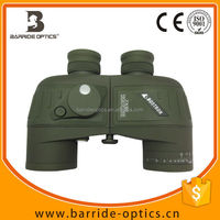 (BM-7011)2015 new 7x50 floating ,marine waterproof army green binoculars with illumination and compass