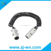 High-Quality 7 pin black auto parts coiled cable