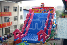 Outdoor used giant inflatable toboggan slide for commercial used