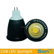 7W led home light 12V MR16 recessed led spotlight COB CRI>80