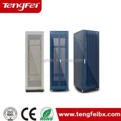 """Server cabinet white color 19"""" 42u floor stand glass door network rack"""