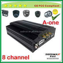 8ch taxi camera system with WIFI GPS 3G HDD SD mobile dvr support sony camera