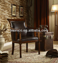 Wooden American style living room furniture,single seat sofa chair,Antique leisure chair(BF01-20016)