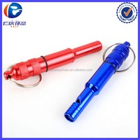 New Design Pen shaped whistle Different shapes Metal keychains