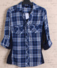 Garment wash new style office ladies plaid Shirt fashion designer clothing dropshipping women clothing