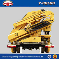 china factory sale SQ10ZA3 knuckle arm mobile truck crane 10ton mounted on trailor