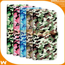 Colorful Army Camouflage style Flip PU Leather case For mobile phone, custom cell phone case