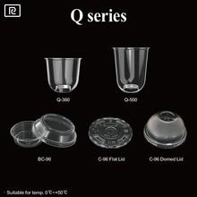 R- Wine whisky 12 oz 16 oz plastic biodegradable disposable juice salad ice coffee bubble tea cup -Q360 Q500 plastic wine cups