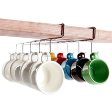 Haisong Kitchen Utensils Under Shelf Space Save Cup Hanging Dish Rack