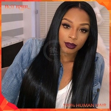 New Designed Fashionable Cambodian Virgin Hair Wig Cambodian Silky Straight Wig Glueless Full Lace 100% Human Hair Wig