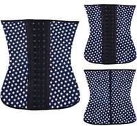Instyles Wholesale Cheap Blue Dot Underbust Latex Rubber Corset Shapewear In Stock