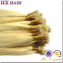 Prebonded hair ,Factory price unprocessed remy nano ring hair