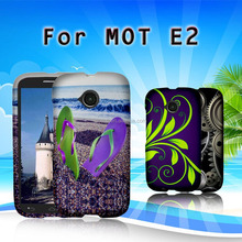 hot photo phone case for MOT/MOTOROLA E2 LTE, two pieces PC cell phone case, with butterfly design