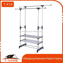 standing movable folding clothes rack space saving