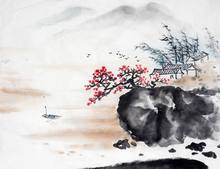 Chinese large canvas art made in china