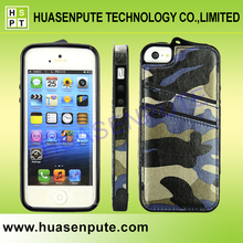 For iPhone 5 Camouflage Shock-Proof Cover Case Skin Leather TPU, Fashion Phone Case Cool Design