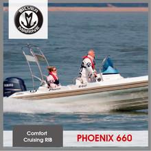 Silver Marine Rigid hull fiberglass inflatable boat,inflatable rib boat for sale (Phoenix 660 6.6M)